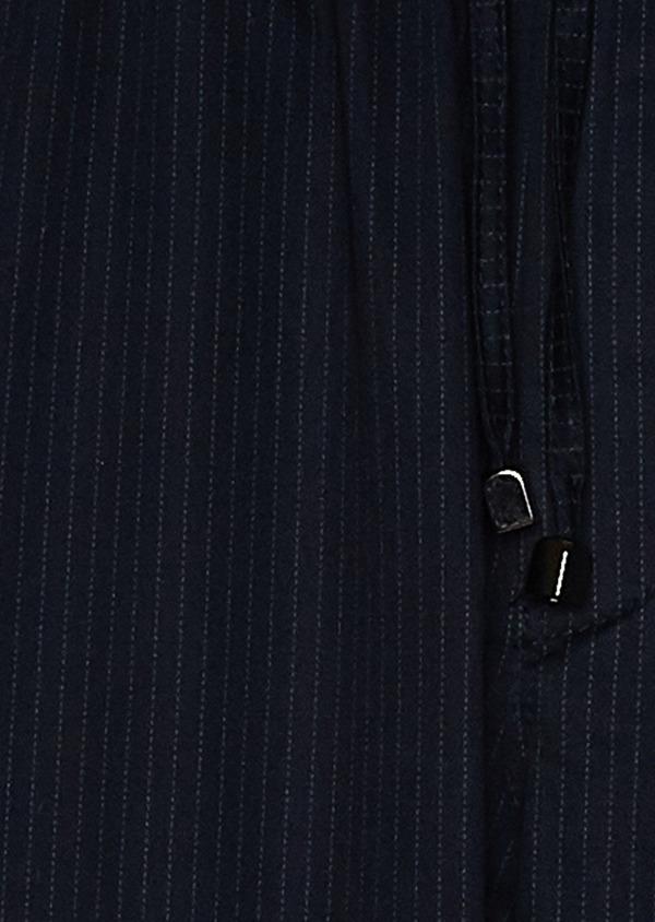 Pantalon jogging en coton stretch à rayures bleu marine - Father and Sons 33278
