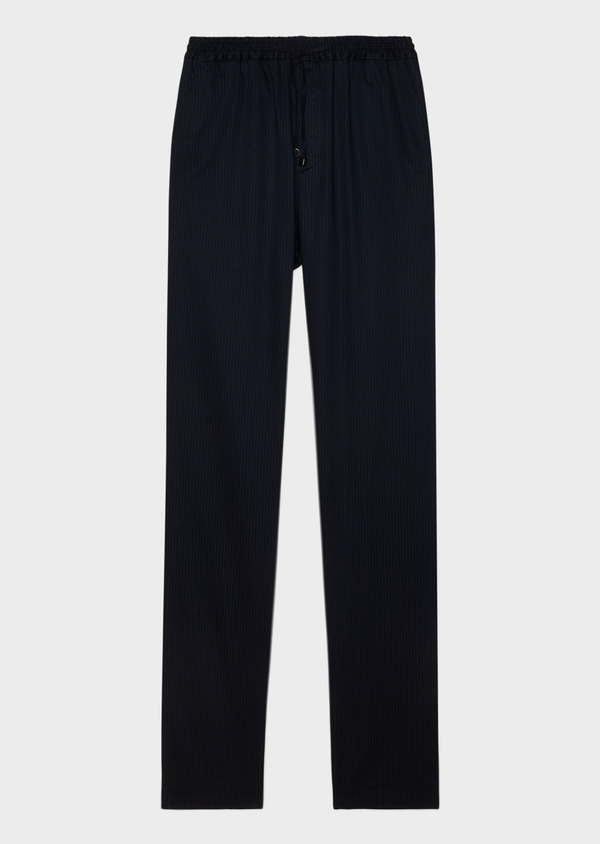 Pantalon jogging en coton stretch à rayures bleu marine - Father and Sons 33277