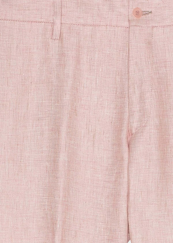 Pantalon coordonnable slim en lin uni rose - Father and Sons 33266