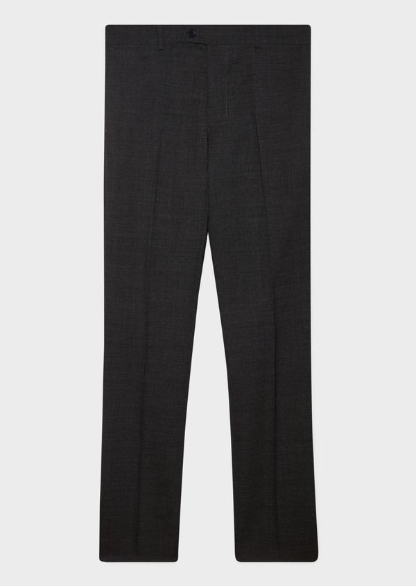 Pantalon voyage coordonnable Regular en laine unie grise - Father and Sons 31864