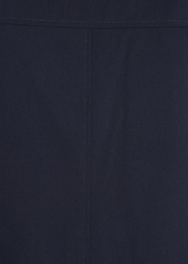 Parka unie bleu marine à capuche amovible - Father and Sons 35910