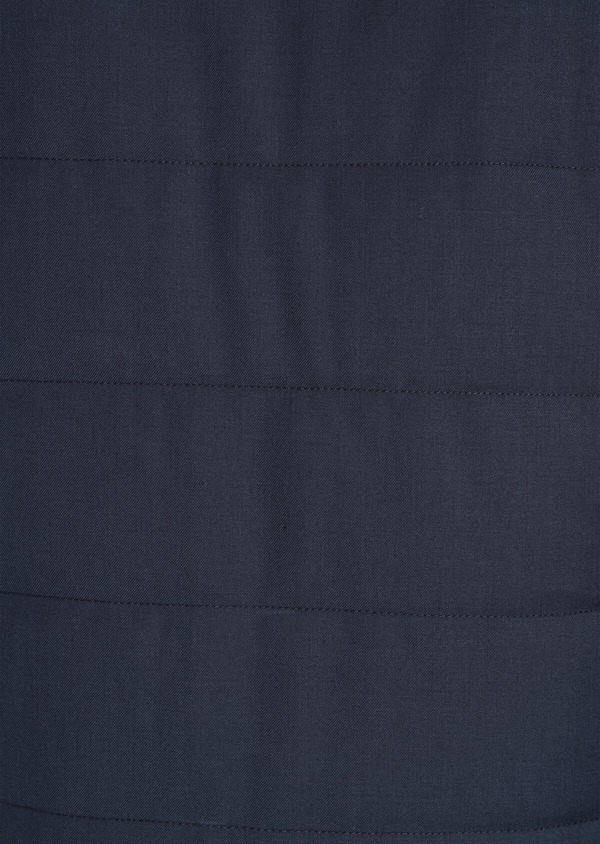 Parka unie bleu gris à capuche - Father and Sons 35923