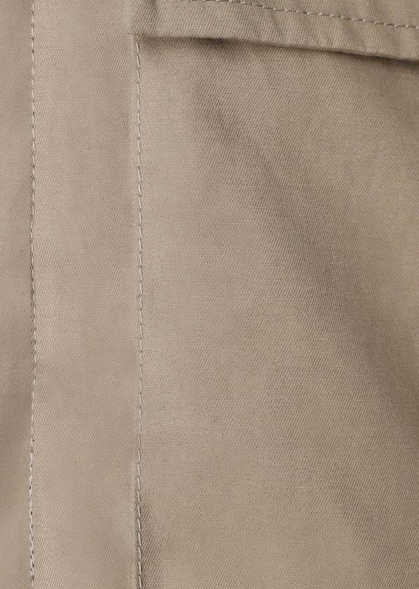 Parka unie beige à capuche amovible - Father and Sons 31965