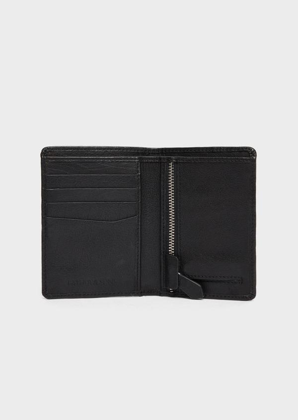 Portefeuille européen en cuir grainé noir - Father and Sons 37228