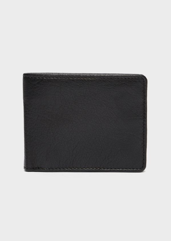 Portefeuille italien en cuir grainé noir - Father and Sons 37230