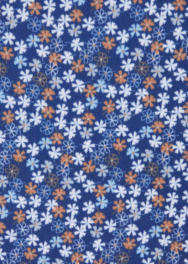 Pochette en coton à motif fleuri bleu et orange - Father and Sons 38268