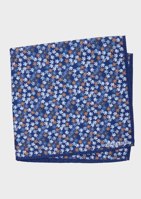 Pochette en coton à motif fleuri bleu et orange - Father and Sons 38267