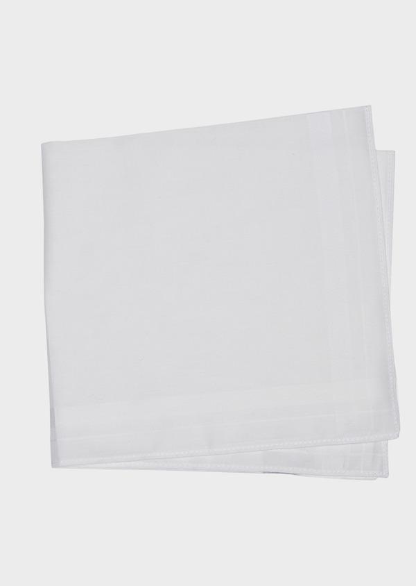 Pochette en coton uni blanc - Father and Sons 37295