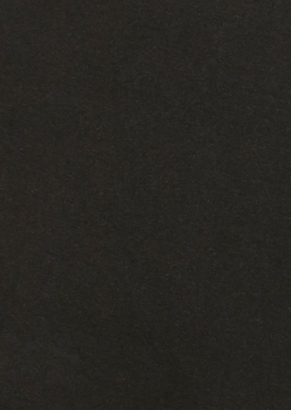 Pochette en soie unie noire - Father and Sons 18186