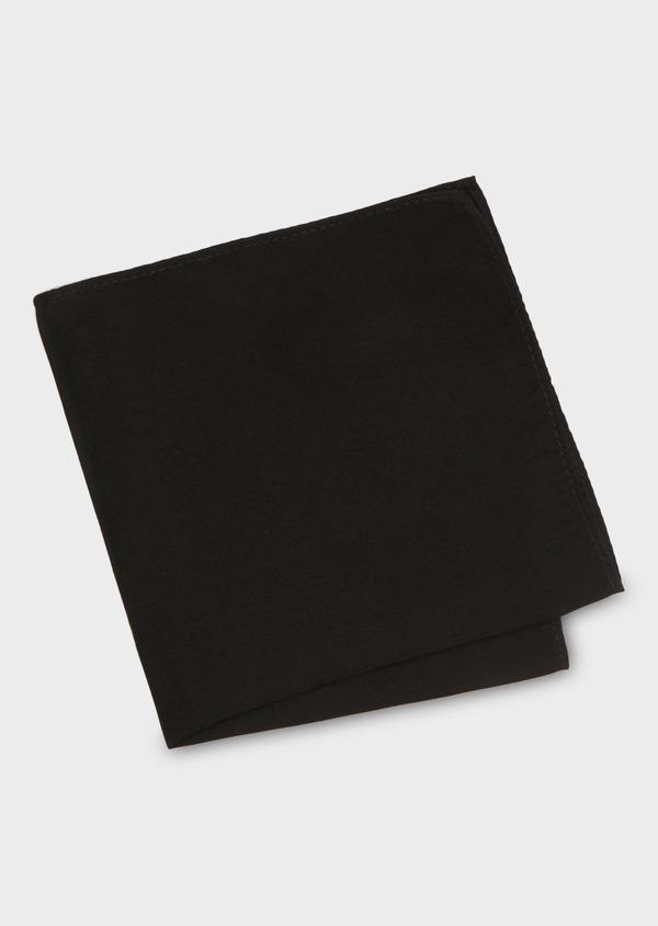 Pochette en soie unie noire - Father and Sons 18185