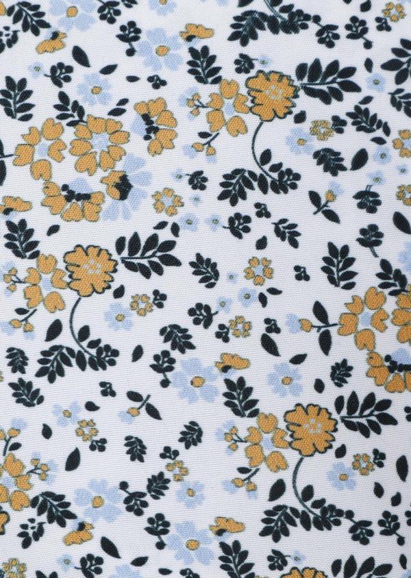 Pochette à motif fleuri bleu, vert foncé et jaune - Father and Sons 33372