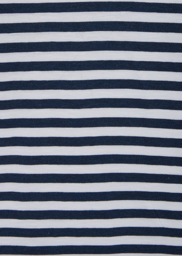 Polo manches courtes Slim en coton à rayures blanches et bleues - Father and Sons 39889