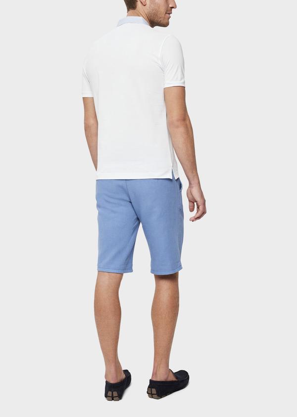 Polo manches courtes Slim en coton uni blanc - Father and Sons 38761