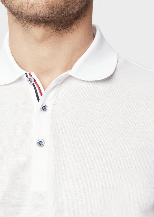 Polo manches courtes Slim en coton uni blanc - Father and Sons 38784