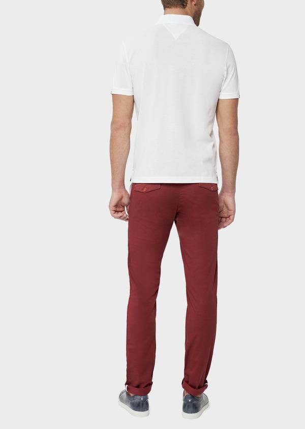 Polo manches courtes Slim en coton uni blanc - Father and Sons 38783
