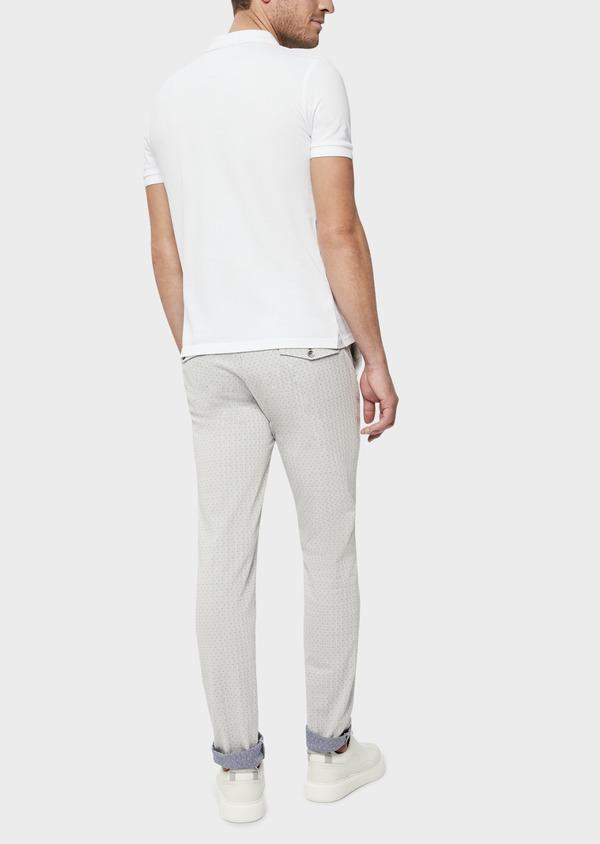 Polo manches courtes Slim en coton uni blanc - Father and Sons 38792