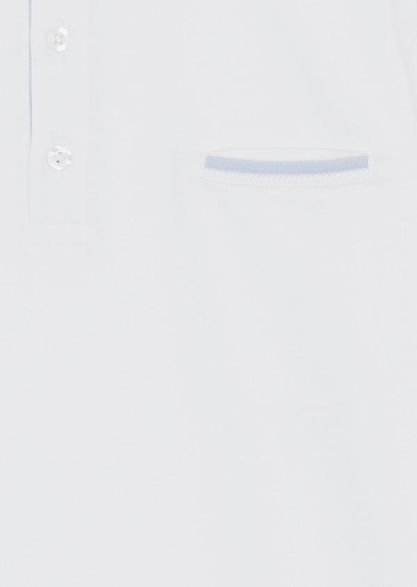 Polo manches courtes Slim en coton uni blanc - Father and Sons 39398