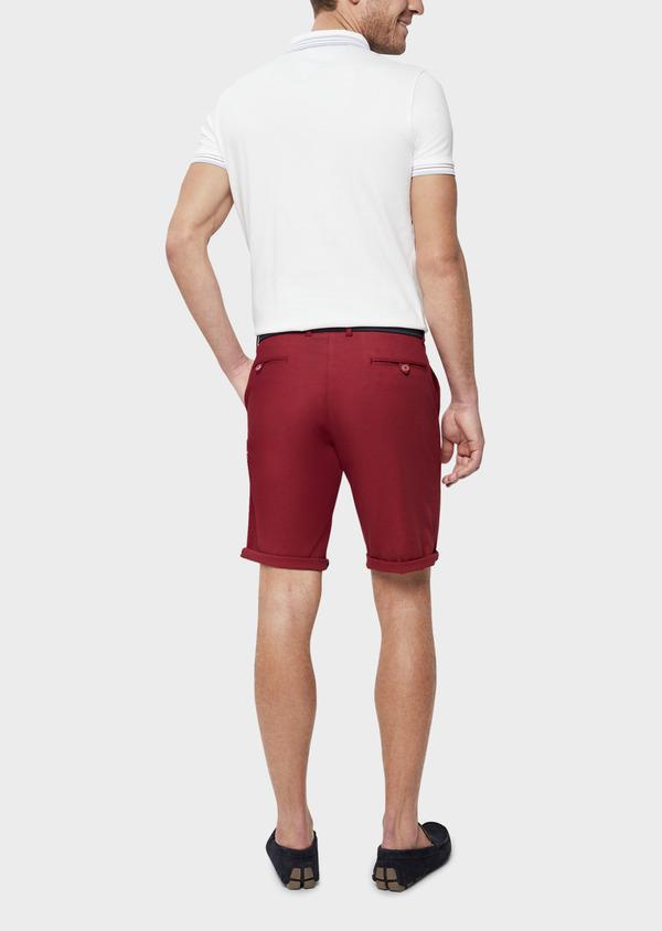 Polo manches courtes Slim en coton uni blanc - Father and Sons 39400