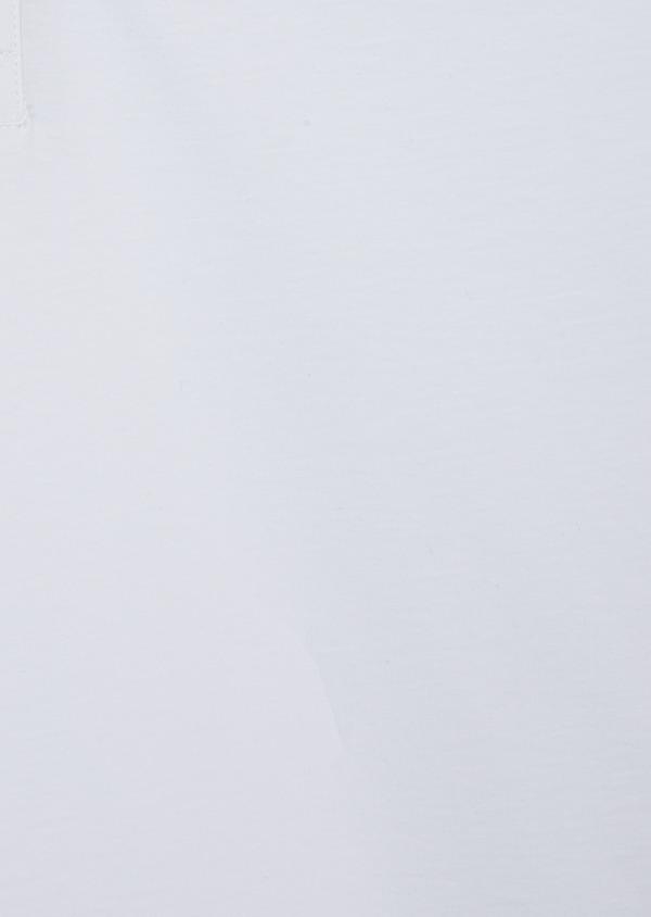 Polo manches courtes Slim en coton uni blanc - Father and Sons 40642