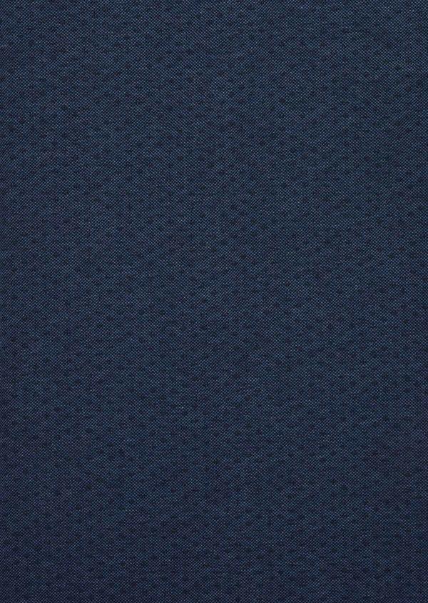 Polo manches courtes Slim en coton bleu à motifs géométriques - Father and Sons 38754