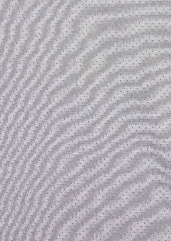 Polo manches courtes Slim en coton gris à motif fantaisie - Father and Sons 38749