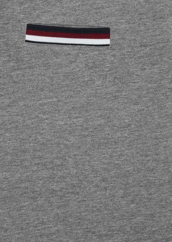Polo manches courtes Slim en coton uni gris chiné - Father and Sons 38766