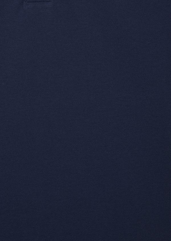 Polo manches courtes Slim en coton uni bleu - Father and Sons 40640