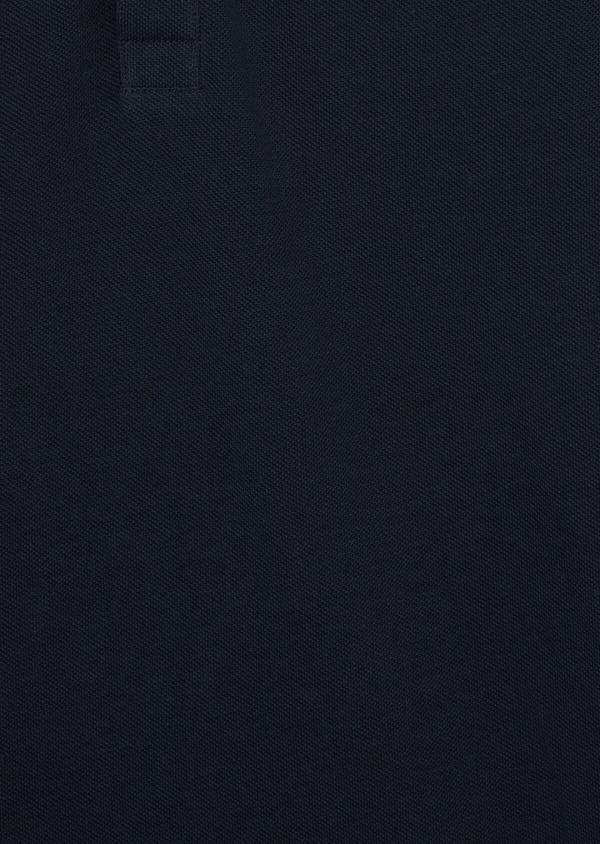 Polo manches courtes Slim en coton uni bleu marine - Father and Sons 39884