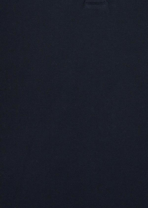 Polo manches courtes Slim en coton uni bleu marine - Father and Sons 40068