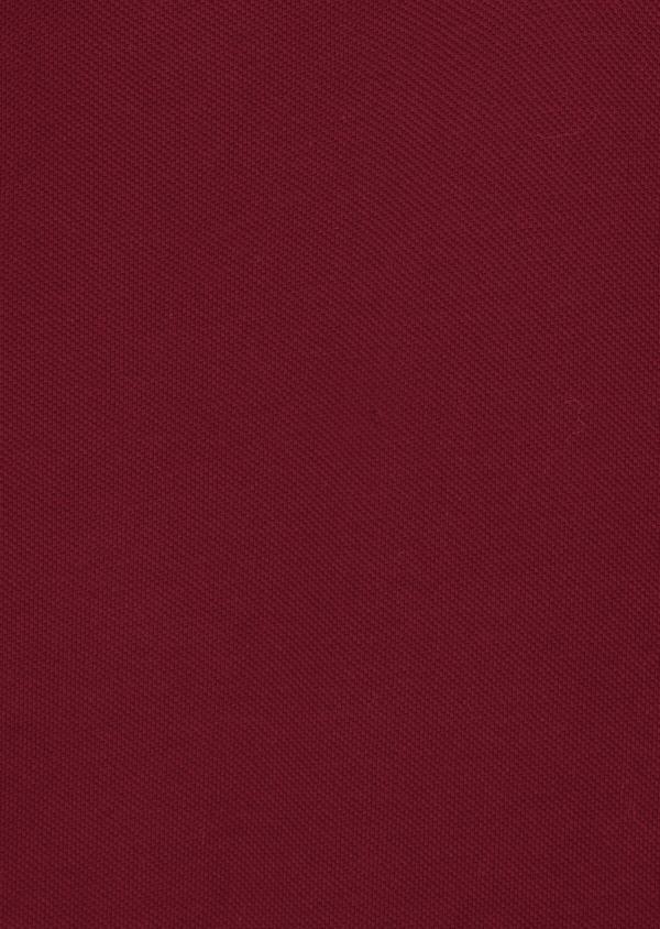 Polo manches courtes Slim en coton uni bordeaux - Father and Sons 40058
