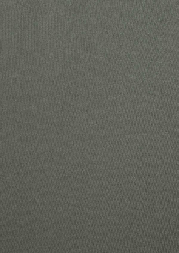 Polo manches courtes Slim en coton uni vert kaki - Father and Sons 38771