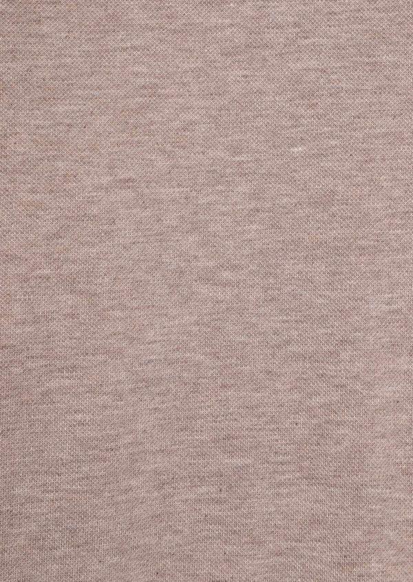 Polo manches longues Slim en coton uni beige - Father and Sons 36161
