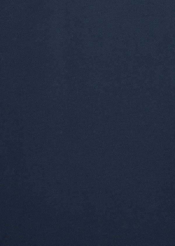 Polo manches longues Slim en coton uni bleu indigo - Father and Sons 38795