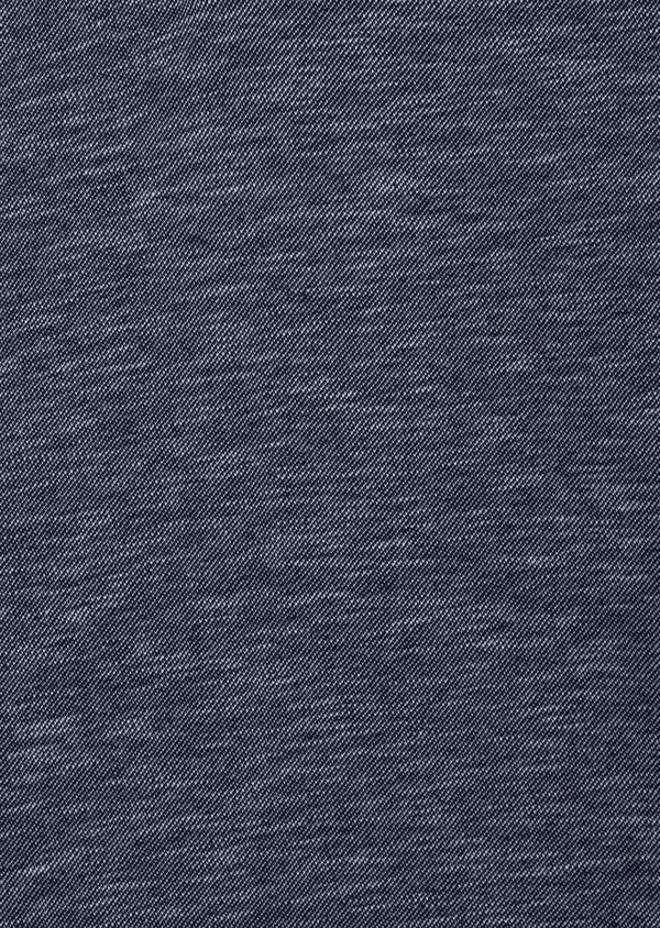 Polo manches longues Slim en coton uni bleu - Father and Sons 41823