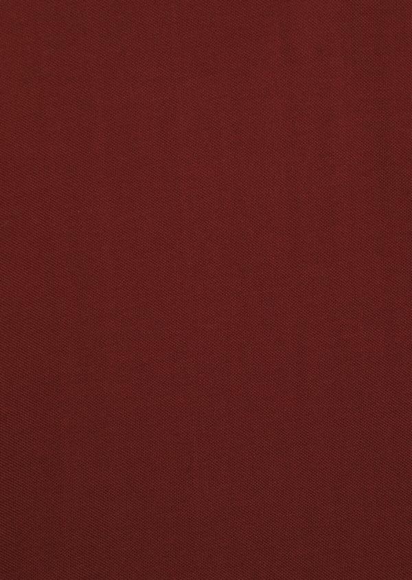 Polo manches longues Slim en coton uni bordeaux - Father and Sons 36166