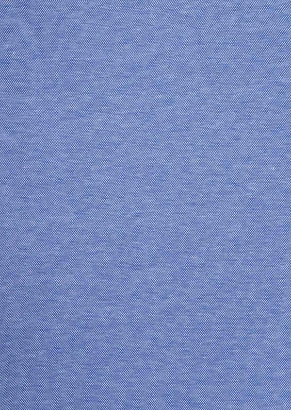 Polo manches longues Slim en coton uni bleu ciel - Father and Sons 36792