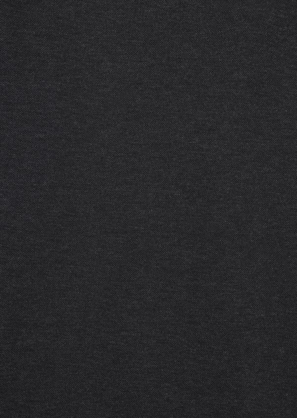 Polo manches longues Slim en coton uni gris - Father and Sons 36413