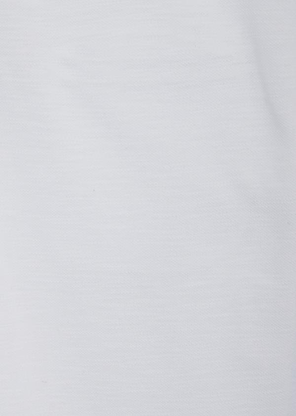 Polo manches longues Slim en coton uni blanc à col officier - Father and Sons 40206