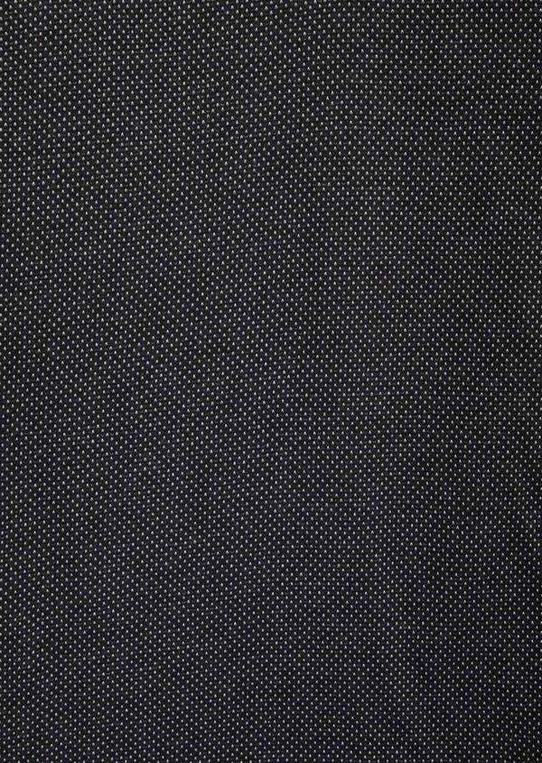 Polo manches longues Slim en coton noir à pois blancs - Father and Sons 40015