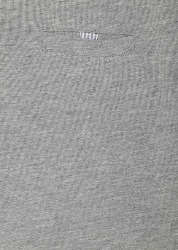 Polo manches longues Slim en coton uni gris clair - Father and Sons 33468