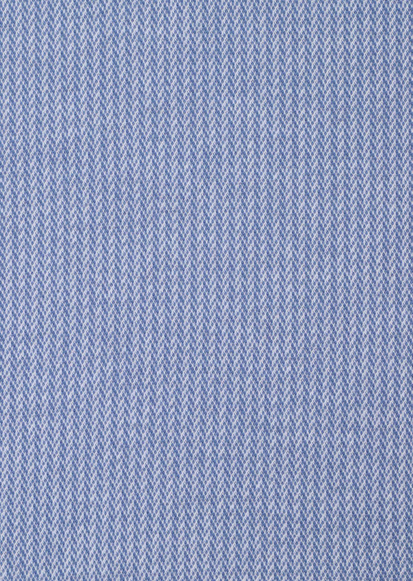 Polo manches courtes Slim en coton bleu à motif fantaisie - Father and Sons 33452