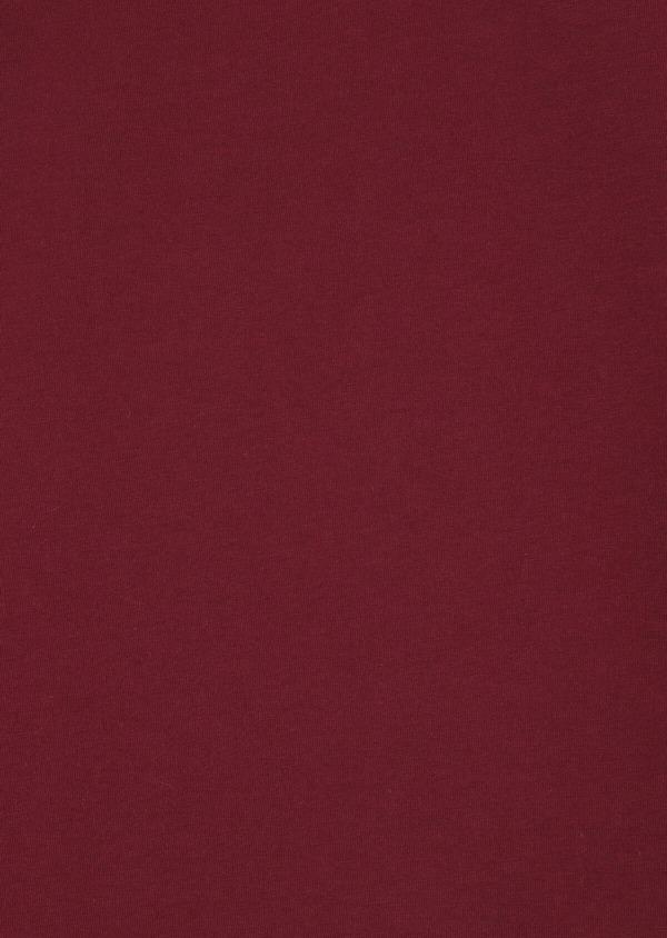 Polo manches courtes Slim en coton uni rouge foncé - Father and Sons 33982
