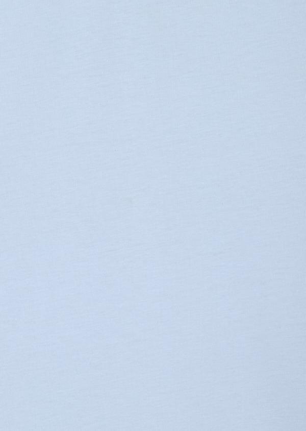 Polo manches courtes Slim en coton uni bleu ciel - Father and Sons 33947