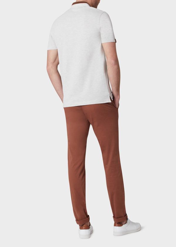 Polo manches courtes Slim en coton gris - Father and Sons 33998