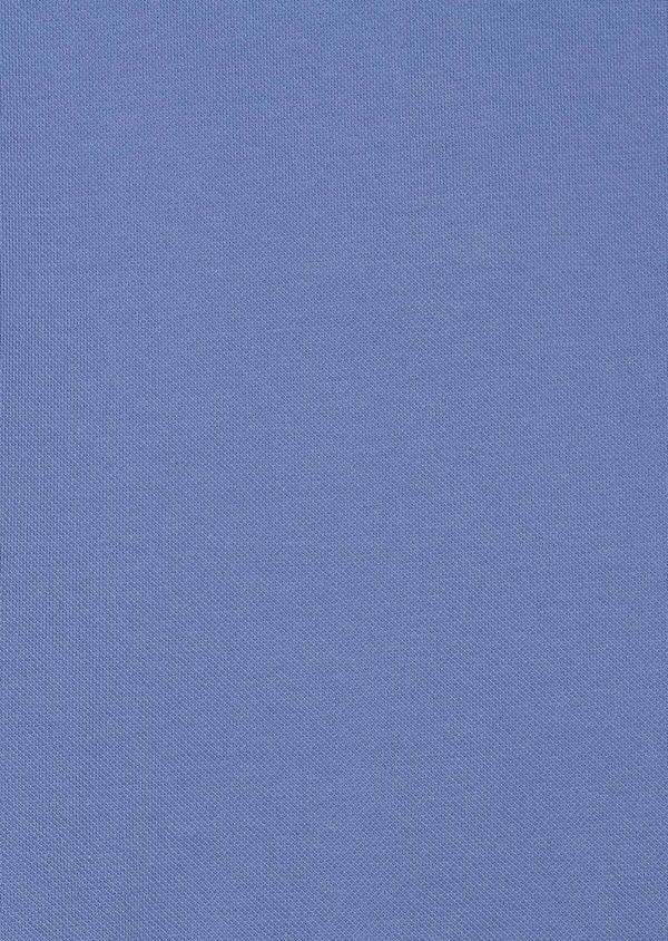 Polo manches courtes Slim en coton uni bleu - Father and Sons 33937