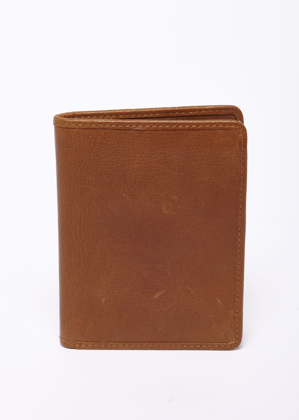 Porte-feuille en cuir camel - Father and Sons 39329