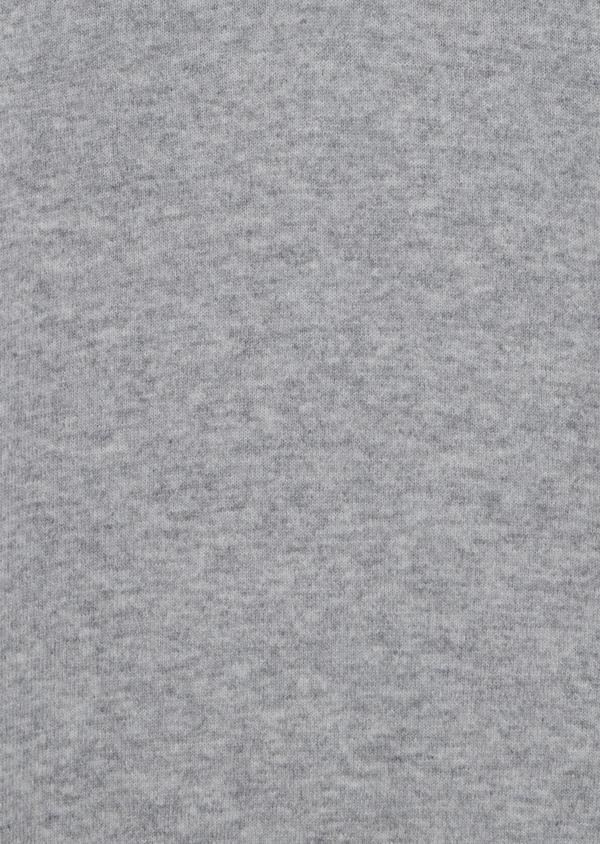 Pull en cachemire col zippé uni gris clair - Father and Sons 35453