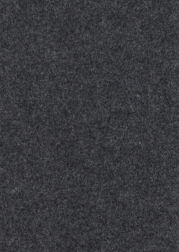 Gilet zippé en cachemire uni gris - Father and Sons 35468