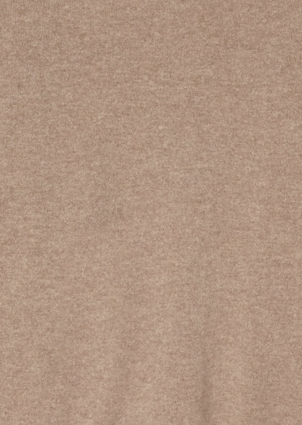 Pull en cachemire col rond uni beige - Father and Sons 28150