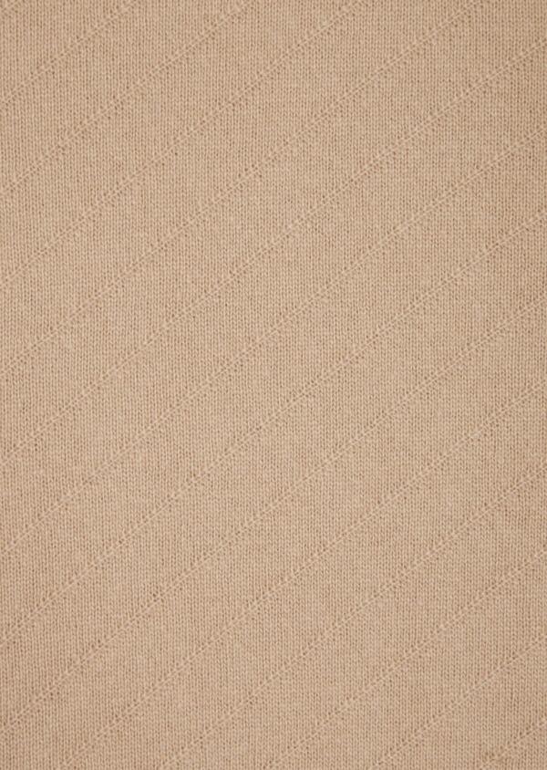 Pull en laine mélangée col rond uni camel - Father and Sons 36171